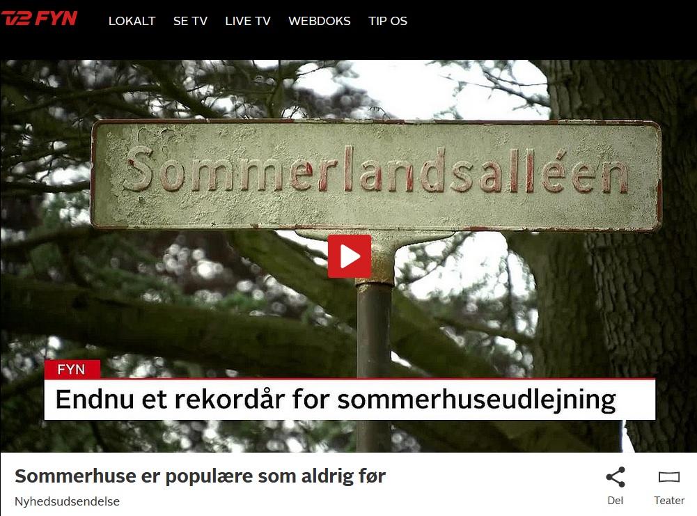 Read more about the article Billeder fra Stenodden Sommerland vist i kort indslag om sommerhusudlejning i TV2Fyn nyheder.