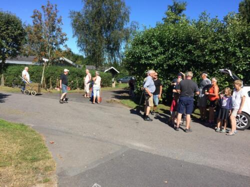 Fælles arbejdsdag - græskanter renses - 27. Aug2016